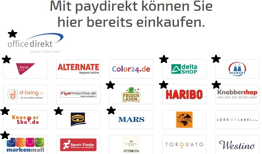 Dürres Angebot: Jeder zweite Paydirekt-Partner stammt von Office direkt.